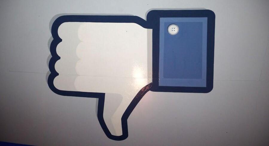 Den længe efterspurgte mulighed for ikke at synes om noget på Facebook kommer nu. Manipuleret foto: Stephen Lam, Getty Images/AFP/Scanpix