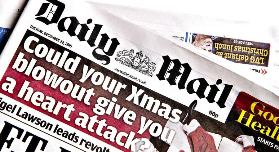 Der bliver færre og færre avislæsere - og dermed færre annoncekroner - og det kan ses i halvårsregnskabet fra Daily Mail and General Trust (DMG). (Foto: Bax Lindhardt/ Scanpix)