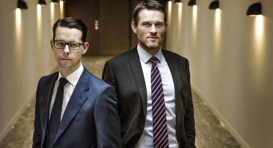 Finansdirektør Jacob Aarup-Andersen (t.h.) og investeringsdirektør Anders Svennesen, som står i spidsen for Danicas nye investeringsstrategi.