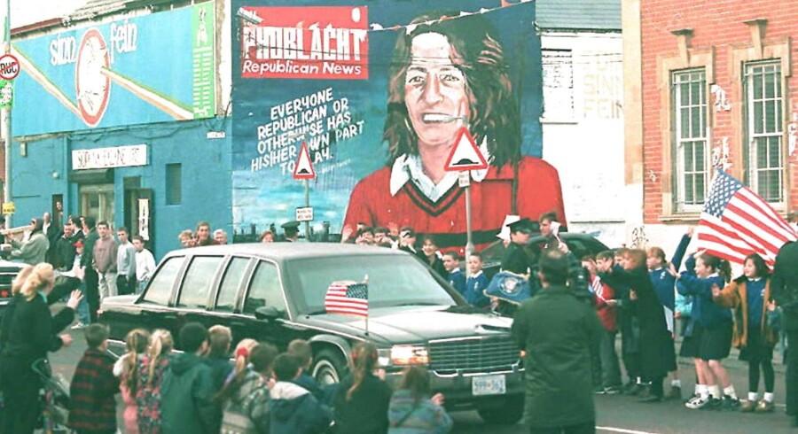 Ny britisk dokumentar skildrer historien om den IRA-fangen Bobby Sands, der sultestrejkede i 66 dage. // AFP PHOTO Gerry PENNY