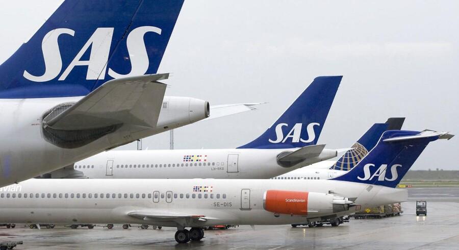 Arkivfoto: Trods stigende efterspørgsel er billetpriser presset i bund hos SAS, der havde 2,6 millioner passagerer i maj.