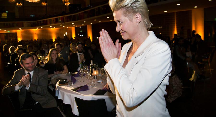 Danmarks Film Akadami holder Robertfest på Tivoli Hotel i København søndag d. 7. februar 2016. Årets Kvindelige birolle Trine Dyrholm