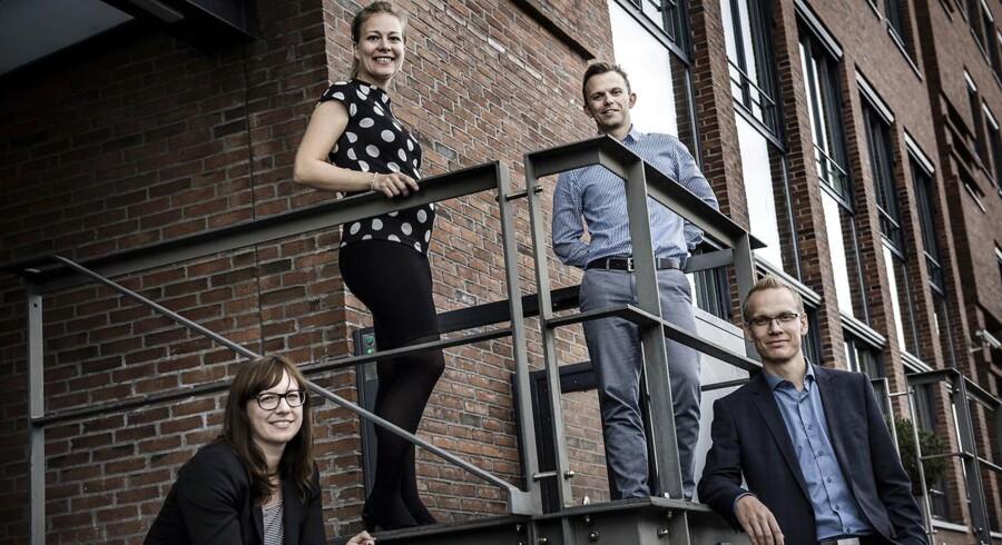 Sidste års Talent 100-deltagere. Er du en del af det nye kuld? Fra venstre mod højre: Tine Jørgensen, Camilla Søgaard Hudson, Kristian Mads Arounsack-Jørgensen og Dennis Nørgaard.