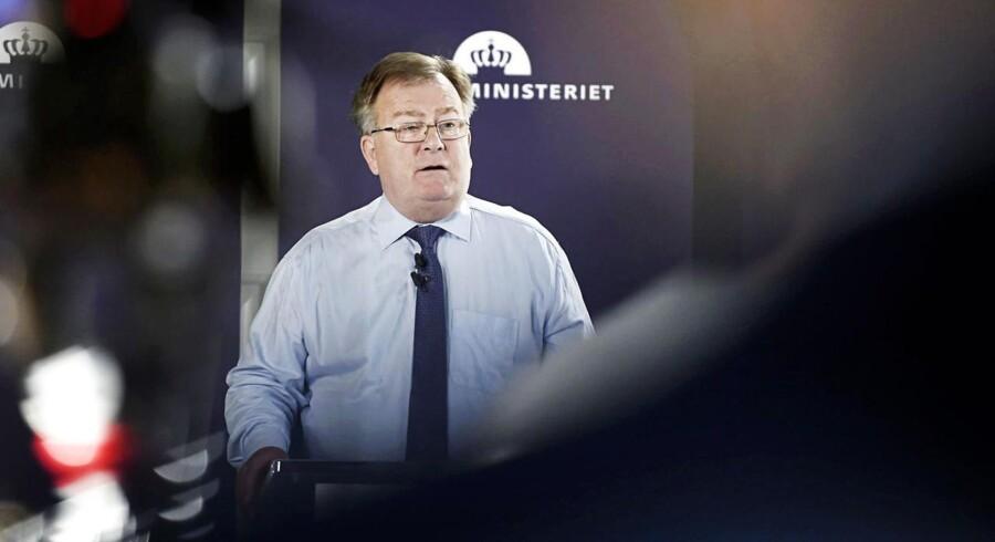Finansminister Claus Hjort Frederiksen Fremlægger finanslovsforslaget for 2016.