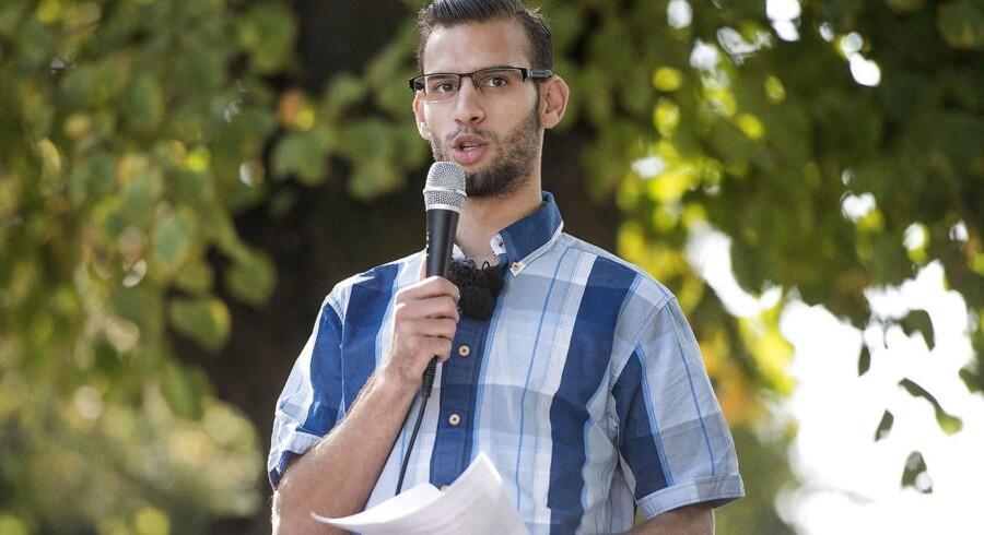ARKIVFOTO 2014 af Mohammad Sabah Ahmad i Aarhus - Ahmad var i tre dage talsmand for Grimhøjmoskeen. Nu stiller han op til Folketinget for Alternativet.