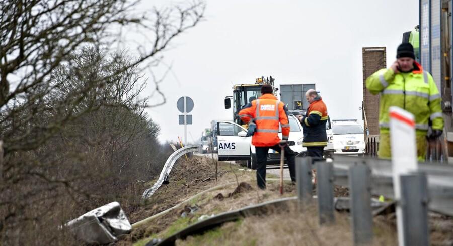 Arkivfoto. Trafik ulykke Den Sønderjyske Motorvej.