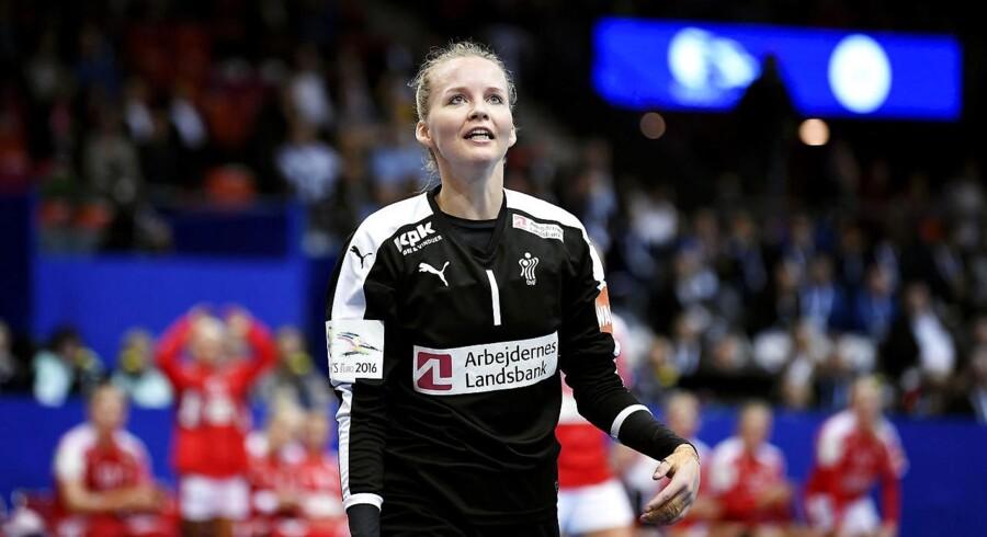 Arkivfoto. Målmand Sandra Toft stopper i Larvik efter tre sæsoner og vender tilbage til den danske liga.