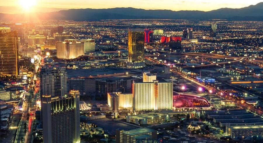 Selv for Las Vegas kan det blive for meget. Der er ikke senge nok til flere deltagere på verdens største forbrugerelektronikmesse. Arkivfoto: Iris/Scanpix