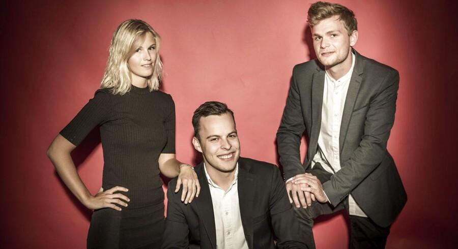 Berlingske Business' Business Live-team. Fra venstre Michel Bloch Andersen, Andreas Lønstrup og Søren Martin Olsen