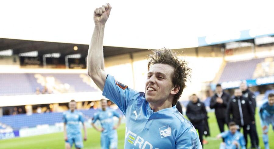 Saba Lobzhanidze 23 scorede alle Randers FCs tre mål. (Foto: Bo Amstrup/Ritzau Scanpix)