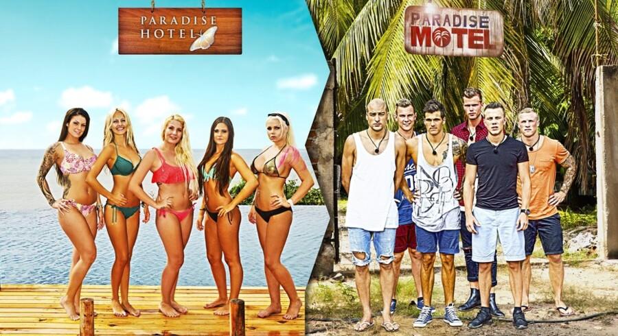 Er virkeligheden i reality-konkurrencer som »Paradise Hotel« så manipuleret, at de medvirkende reelt er på arbejde og derfor burde have penge for at deltage? Foto: TV3