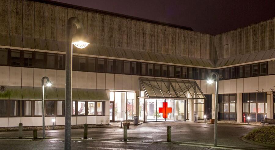 Røde Kors modtagecenter i det nedlagte sygehus i Helsingør