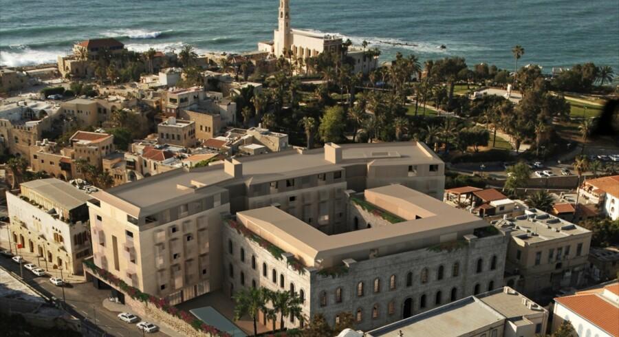 Teva-topchef Kåre Schutlz flytter om fire-fem måneder ind i en luksuslejlighed i den israelske havneby Jaffa. Foto: Ramy Gill Architects and Urban Designers.