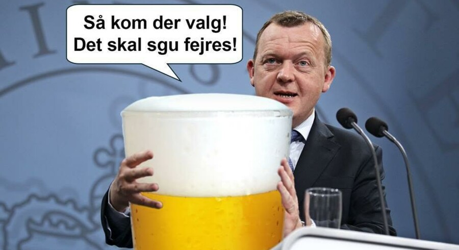 Blot ét eksempel på de mange billeder af Lars Løkke Rasmusen på Blå Blok Indefra. Billedet her er offentliggjort den 27. maj.