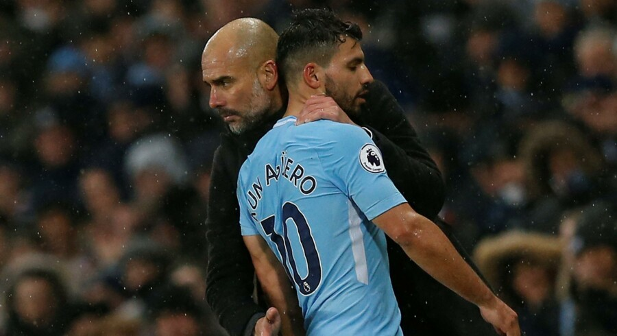 Sergio Agüero er ikke rejst med til Liverpool, hvor Manchester City spiller Champions League-kvartfinale onsdag. Reuters/Andrew Yates/arkiv