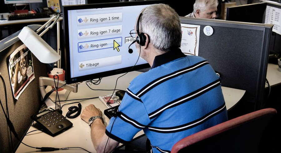 Hans Struer fik i 2004 konstateret nethindeløsning, der med tiden gør ham blind. Nu arbejder han hos telemarketingvirksomhenden All Ears. Foto: Thomas Lekfeldt