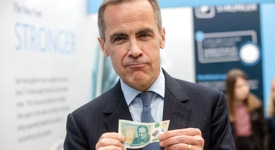 Chefen for den britiske centralbank, Bank of England, Mark Carney.