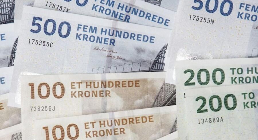 Danske kroner i pengesedler.