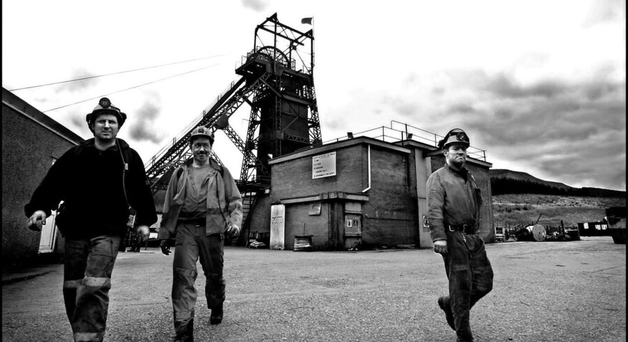Engang var Storbritannien en stolt industrination, hvor kulminerne udgjorde rygraden. De tider er forlængst forbi. Her et billede fra en mine i Aberdare i Wales.