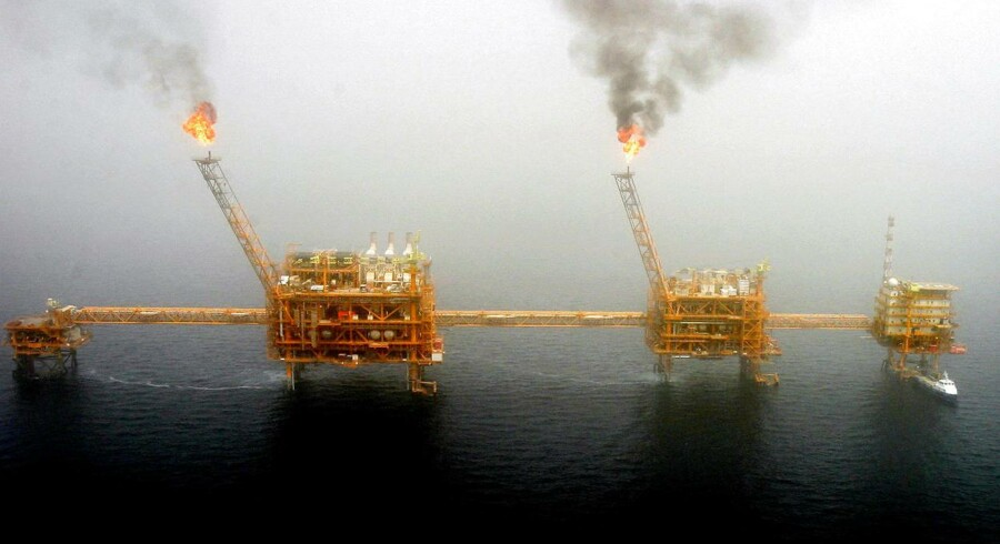 Iransk olieplatform.
