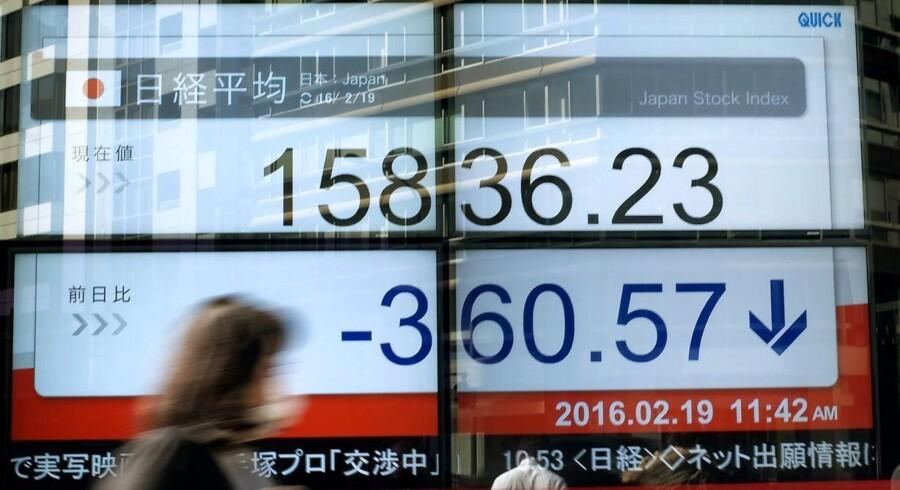Der er igen bud efter japanske yen på de internationale valutamarkeder tirsdag morgen, hvor frygten for uforudsete hændelser og økonomiske nedtur lægger bånd på investorernes lyst til at tage risiko på bøgerne. Arkivfoto.