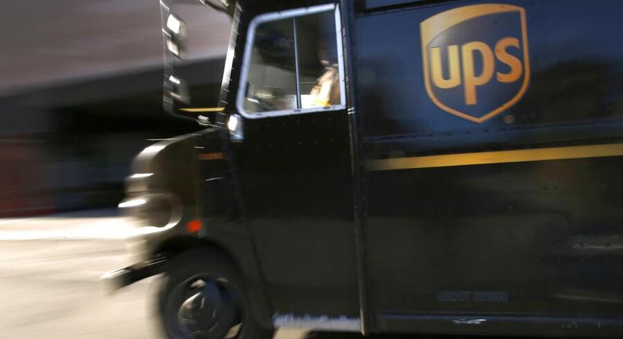 Arkivfoto. Pakkeselskabet United Parcel Service (UPS) kunne ikke leve op til markedets forventninger med sit regnskab for fjerde kvartal, og samtidig skuffer selskabets forventninger til indeværende år.