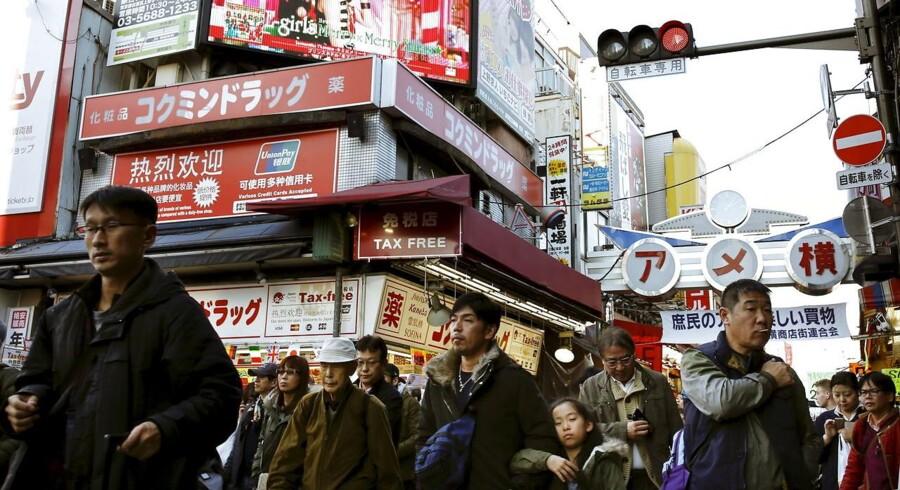 Japans handelsoverskud var langt højere end ventet i januar. Arkivfoto.
