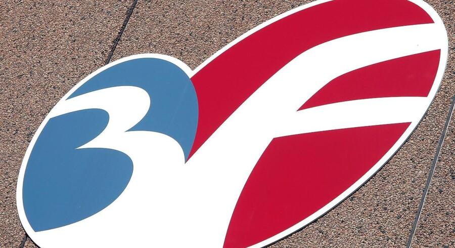 3F logo for Fagligt Fælles Forbund. ARKIVFOTO.