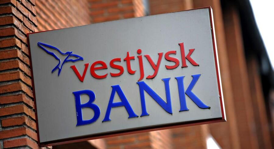 ARKIVFOTO: Færre basisindtægter og lavere nedskrivninger præger Vestjysk Banks regnskab for tredje kvartal, hvor forventningerne til hele årets basisresultat før nedskrivninger fastholdes i intervallet 400-450 mio. kr.
