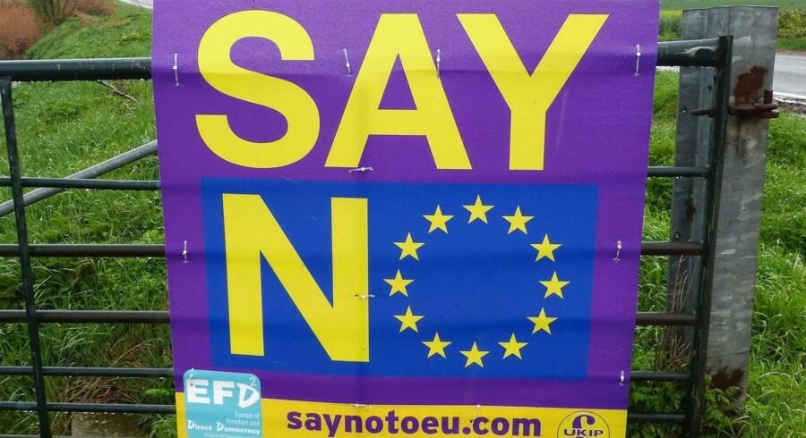 """Mange danske virksomheder har de seneste uger udtryk bekymring omkring Storbritanniens potentielle farvel til EU-samarbejdet, men hos flytteservicevirksomheden Santa Fe Group behøver et såkaldt """"brexit"""" ikke nødvendigvis at være en dårlig ting. (AFP PHOTO / James PHEBY)"""