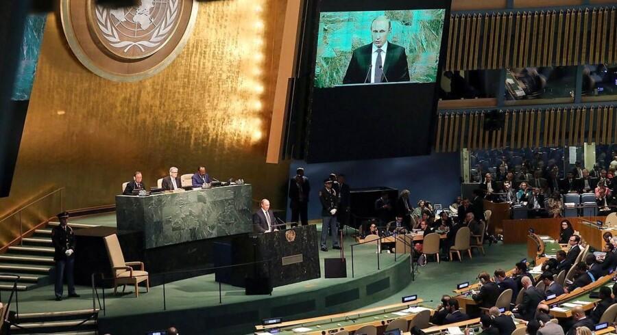 Putin taler til FNs generalforsamling.