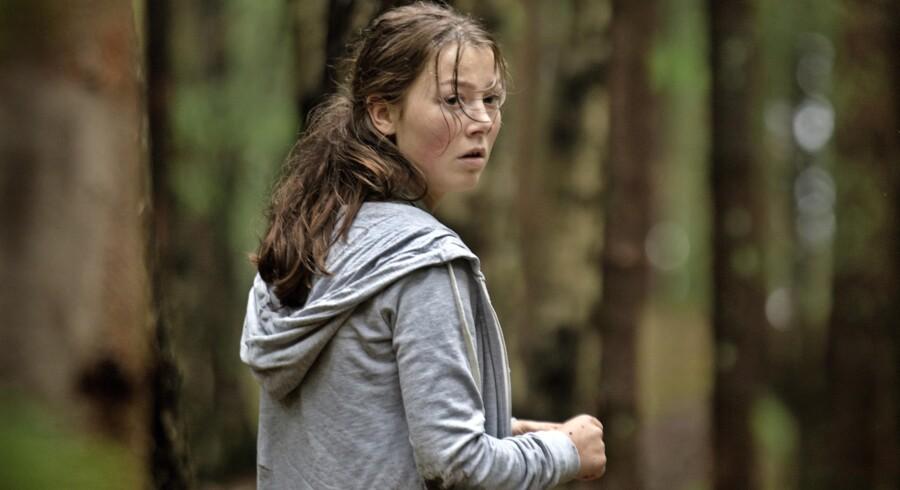 Andrea Berntzen er vores anker i en grusom, men også respektfuld fortælling, som pigen Kaja. PR Foto Nordisk Film