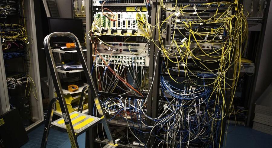 DIX (på DTU) er et af knudepunkterne for dansk internet. (arkivfoto)