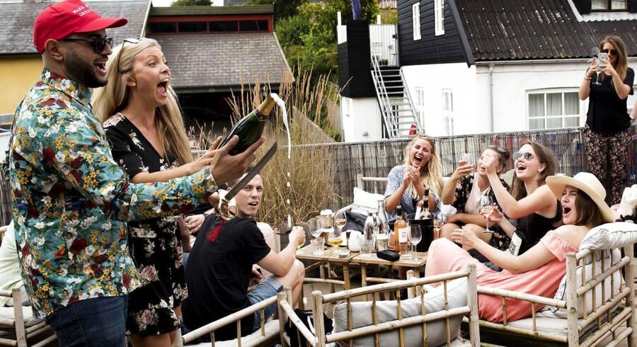 Roséfest på Strandhotellet i Tisvildeleje.