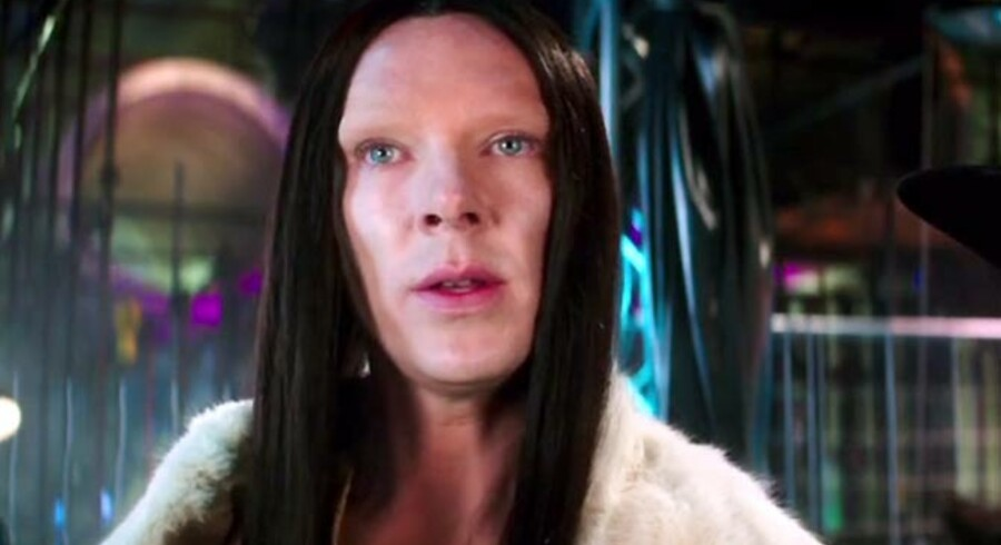 Benedict Cumberbatch i rollen som den androgyne/transseksuelle model »All« i den kommende film Zoolander 2.