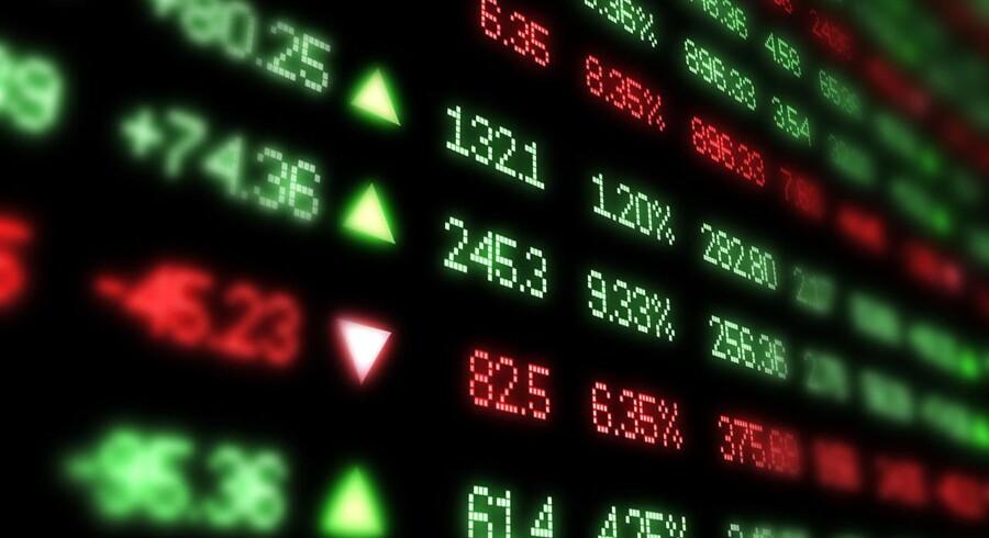 Negative fortegn præger det danske aktiemarked mandag.