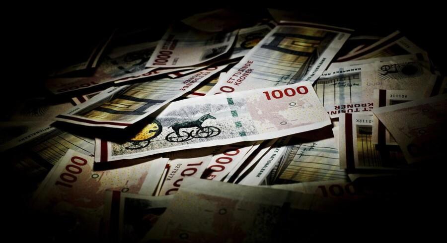 Arkivfoto. Valutaspekulanter køber kroner i håb om at tvinge Danmark til at bryde fastkurspolitikken med euroen.