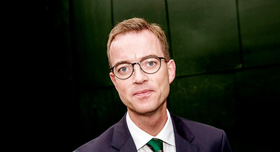 Esben Lunde Larsen, Forskningsminister, Venstre. Stemmer til EU-valget den 3. december. Frederiksberg Rådhus.