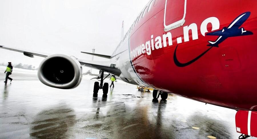 Flyselskabet Norwegian havde markant passagerfremgang i februar, hvor selskabet også kunne glæde sig over færre tomme sæder i flyene. (Foto: Rune Feldt Rasmussen/Scanpix 2015)