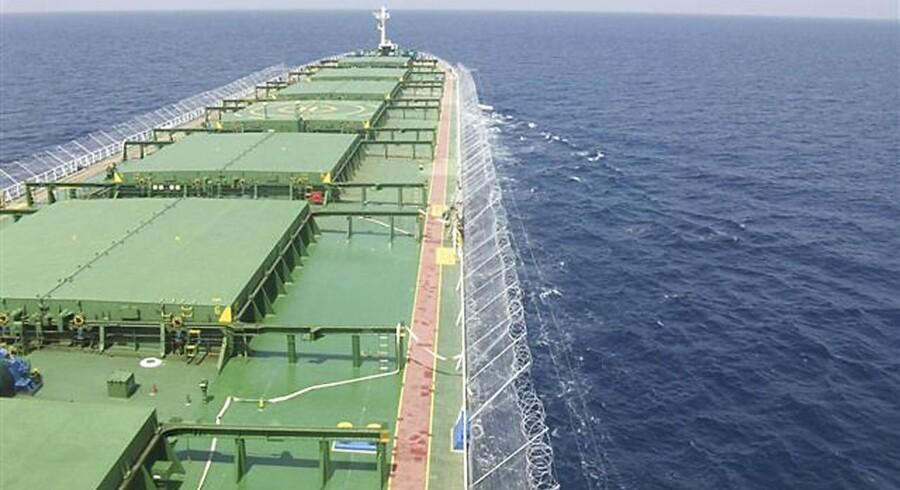 Arkivfoto. Der er langt mindre risiko for piratangreb på de syv verdenshave.