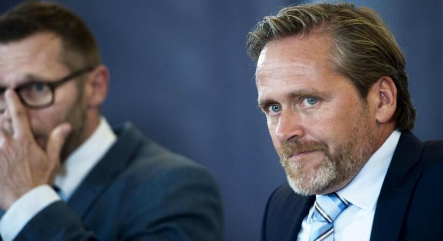 Liberal Alliance præsenterer deres Finanslov s udspil og reaktion på regeringens 2025 plan i deres gruppe værelse på Christiansborg onsdag den 31. august 2015.
