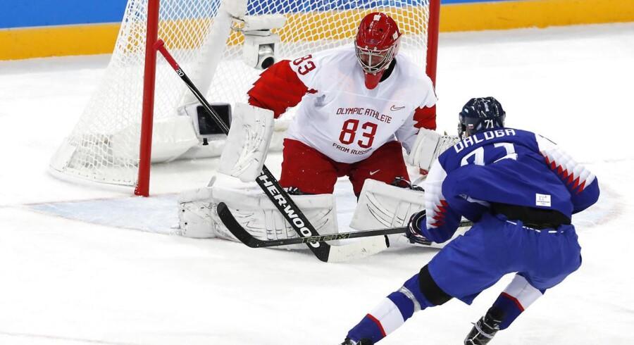 Slovakiet overraskede stort med en sejr over Rusland i mændenes OL-ishockeyturnering