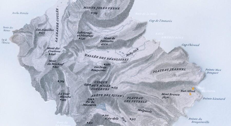 »Atlas over afsidesliggende øer« er fyldt med tegninger af de beskrevne øer.