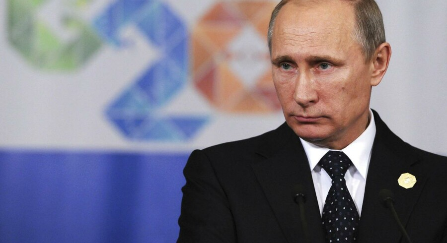 Den russiske præsident Vladimir Putin har i år strammet kontrollen med Internet flere gange. Nu skal der laves et russisk alternativ til netleksikonet Wikipedia. Arkivfoto: Mikhail Klimentjev, RIA Novosti/Reuters/Scanpix