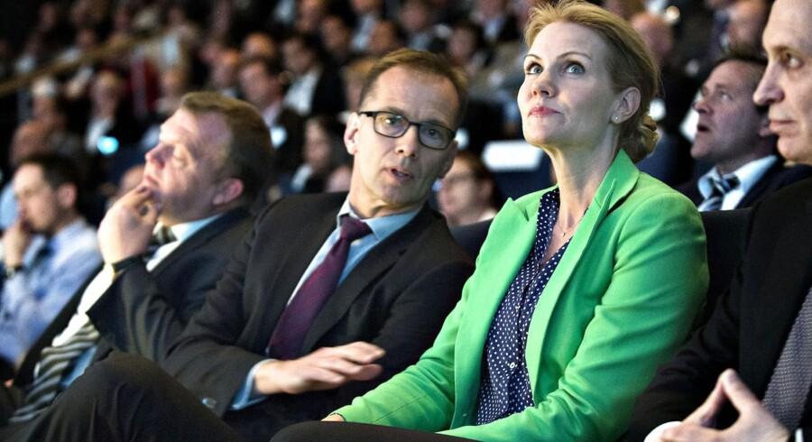 Statsminister Helle Thorning-Schmidt og Jens Klarskov, adm. direktør i Dansk Erhverv under Dansk Erhverv Årsdag 2013 tirsdag d. 14 maj 2013 i Bella Centret i København.