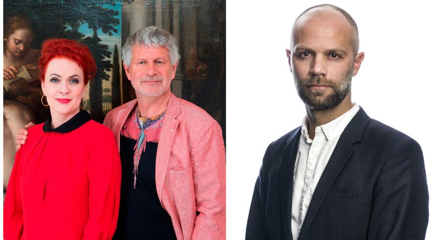 Ægteparret Bengt Sundstrøm og Mette Rode Sundstrøm, der er ejerne af lauritz.com. Virksomhedsredaktør ved Berlingske Jesper Kongskov.