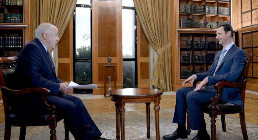 Syriens præsident Assad fik i sidste weekend tale- og charmetid på BBC. Foto: EPA/SANA