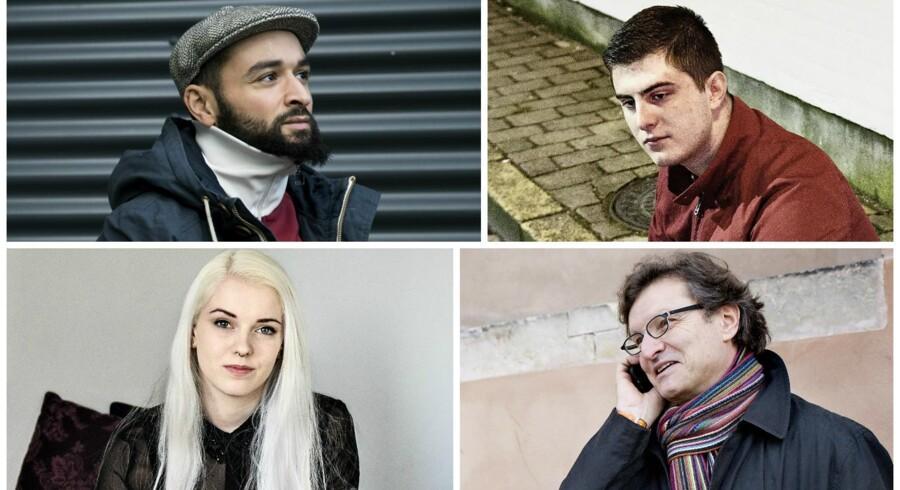 Suhaib Charif (øverst t.v.), Casper Bellincampi (øverst t.h., ), Laura Goret (nederst t.v.) og Thomas Goetz.