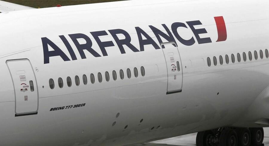 Omkring 25 pct. af Air Frances kabinepersonale strejker.