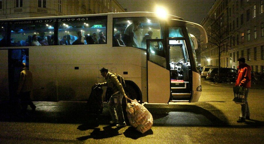 Rumænere på vej hjem fra København. Arkivfoto